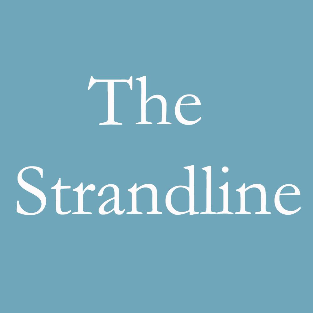 TheStrandline LOGO Blue copy - Glass-tonbury Festival